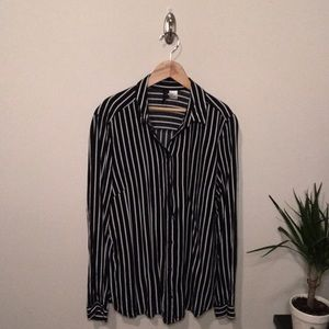 H&M Striped Long Sleeve Button Up